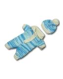 Вязаные ползунки - Бирюзовый. Одежда для кукол, пупсов и мягких игрушек.