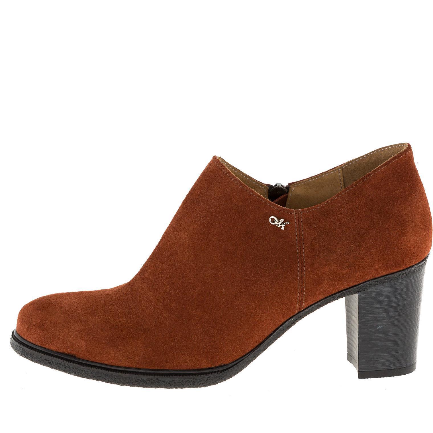 637309 Ботинки женские замша терракот больших размеров марки Делфино
