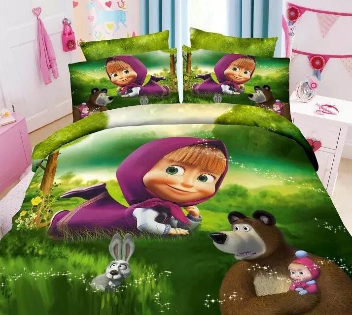 Маша и Медведь постельное белье детское