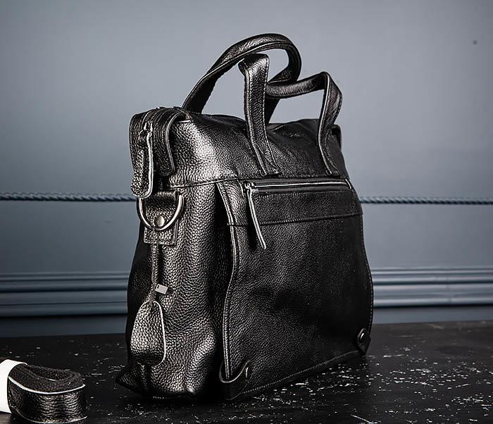 BAG513-1 Стильная мужская сумка из натуральной кожи фото 03