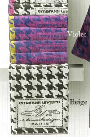 Набор полотенец 2 шт Emanuel Ungaro Pied-de-Poul черный