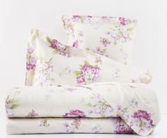 Постельное белье 2 спальное евро макси Mirabello Rododendri с розовыми цветами