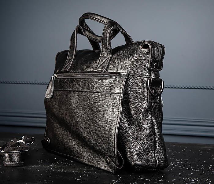 BAG513-1 Стильная мужская сумка из натуральной кожи фото 04