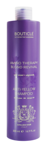 Шампунь Бутикле с анти-желтым эффектом для осветленных волос 500мл