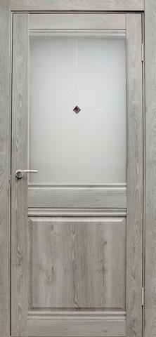 Дверь Эколайт Дорс Омега, цвет дуб дымчатый, остекленная