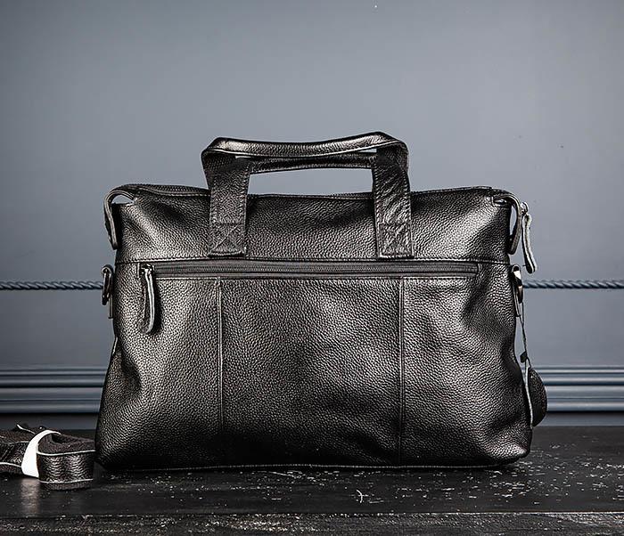 BAG513-1 Стильная мужская сумка из натуральной кожи фото 05