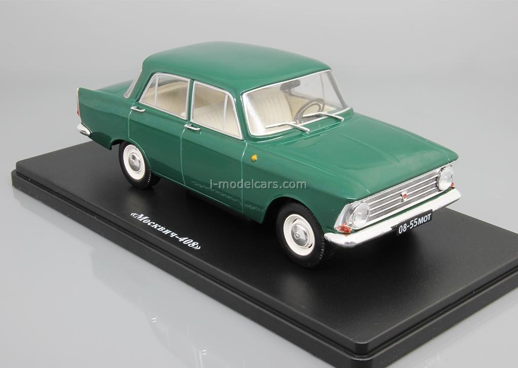 Moskvich-408 dark green 1:24 Legendary Soviet cars Hachette #6