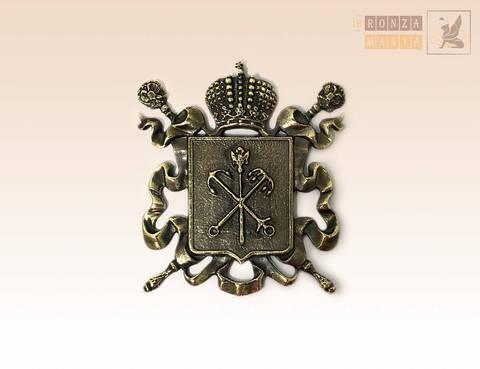 магнит Герб Санкт-Петербурга 7х7 см