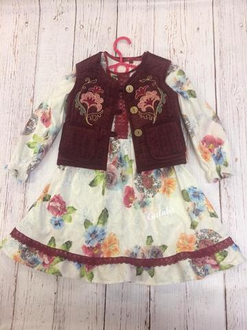Платье детское Алина  , цветное .