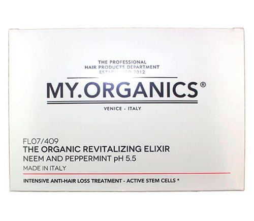 Набор ампул и шампунь: Органический укрепляющий эликсир для кожи головы, My.Organics