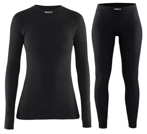 Комплект термобелья Craft Warm Wool женский Black