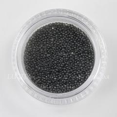 Микробисер черный в баночке, 0,7 мм, 5 гр