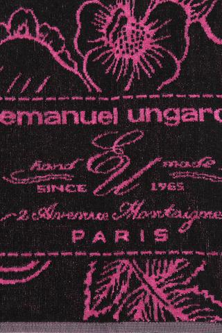 Полотенце 95х150 Emanuel Ungaro Fleur серое