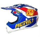 Кроссовый мотошлем NENKI NK316, белый-синий-красный