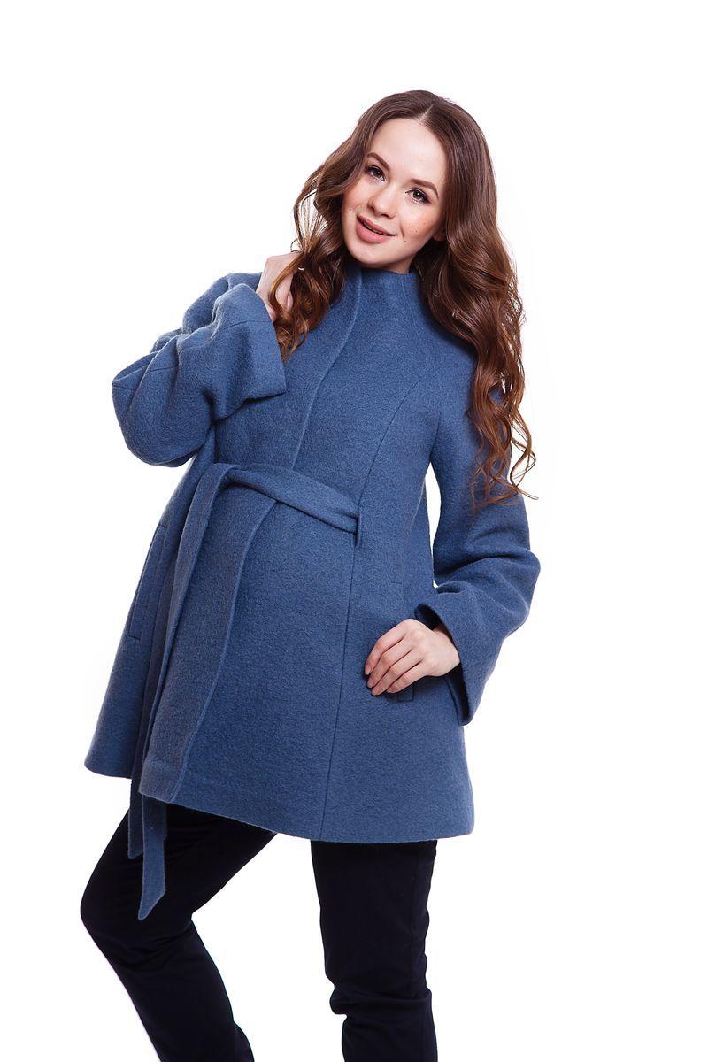 Пальто 05218 синий