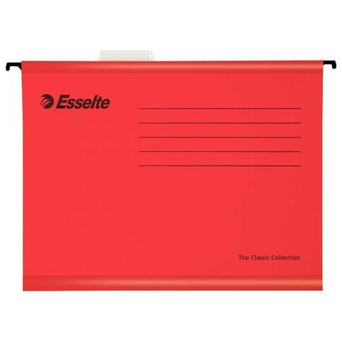 Подвесная регистратура папка Esselte Standart,205 гр,А4,красный 90316 25 шт