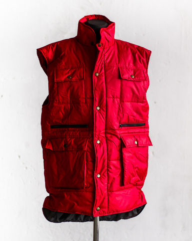 Жилет Garment Factory утепленный стеганый на молнии удлиненный унисекс красный 48 размер