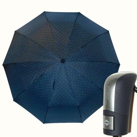 Купить онлайн Зонт складной Ferre GF-577-2-Fantasia scacchi blu в магазине Зонтофф.
