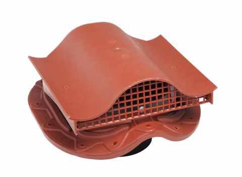 Кровельный вентиль Muotokate KTV для труб 110-160мм RAL 8017 герметик, уплотнитель гидрозатвора входят в комплект