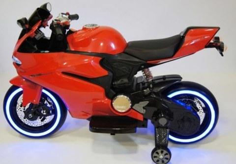 Электромотоцикл Rivertoys А001АА красный