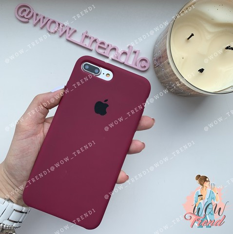 Чехол iPhone 7+/8+ Silicone Case /marsala/ марсал 1:1