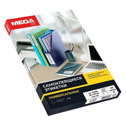 Этикетки самоклеящиеся ProMEGA Label глянцевые,105х148мм,4шт на лис А4,100
