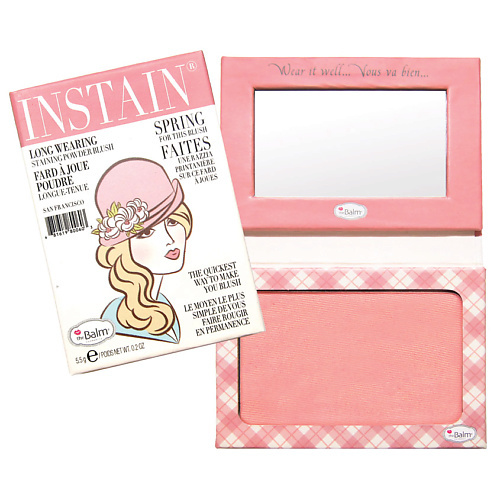 The Balm Стойкие румяна INSTAIN LONG-WEARING POWDER STAINING BLUSH