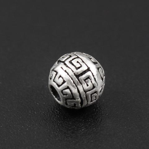 Бусина Греческая 6 мм серебро 925