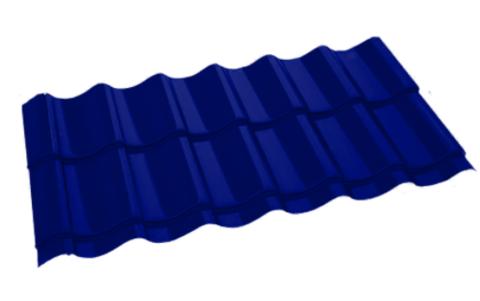 Металлочерепица Арарат Полиэстер RAL 5002 Синий ультра 0,45 мм