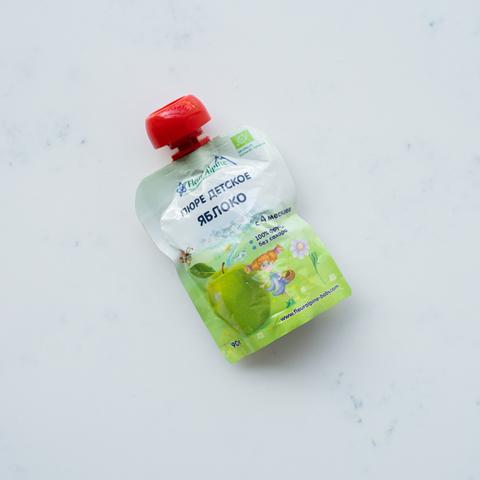 Пюре детское яблоко с 4 мес. Fleur Alpine, 90 гр