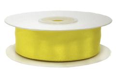 Лента атласная Желтый, 25 мм * 22,85 м.