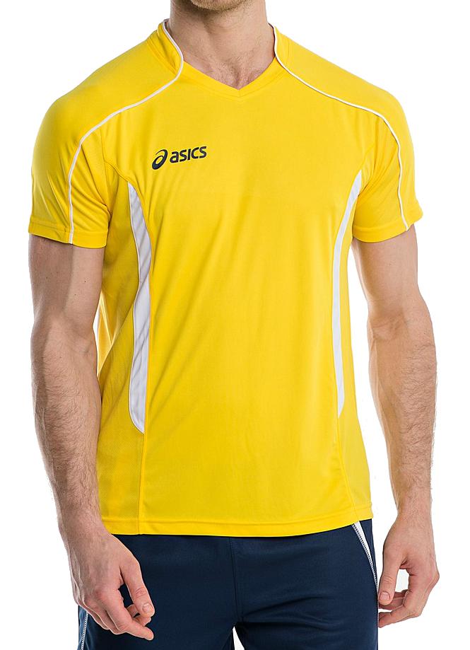 Мужская футболка для волейбола Asics T-shirt Volo (T604Z1 QV01) желтая фото