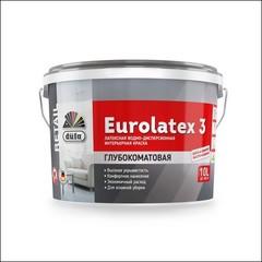 Краска в/д для интерьера DUFA RETAIL EUROLATEX 3 глубокоматовая (Белый)