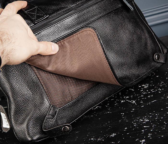 BAG513-1 Стильная мужская сумка из натуральной кожи фото 10