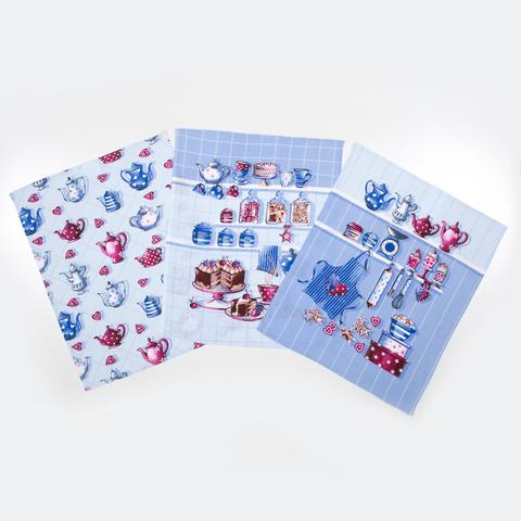 Комплект кухонных полотенец из рогожки