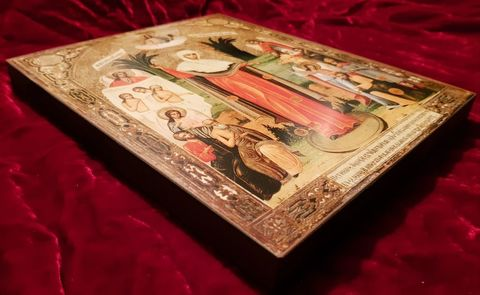 Икона Божией Матери Всех скорбящих Радость на дереве на левкасе мастерская Иконный Дом