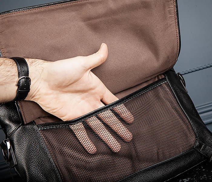BAG513-1 Стильная мужская сумка из натуральной кожи фото 11