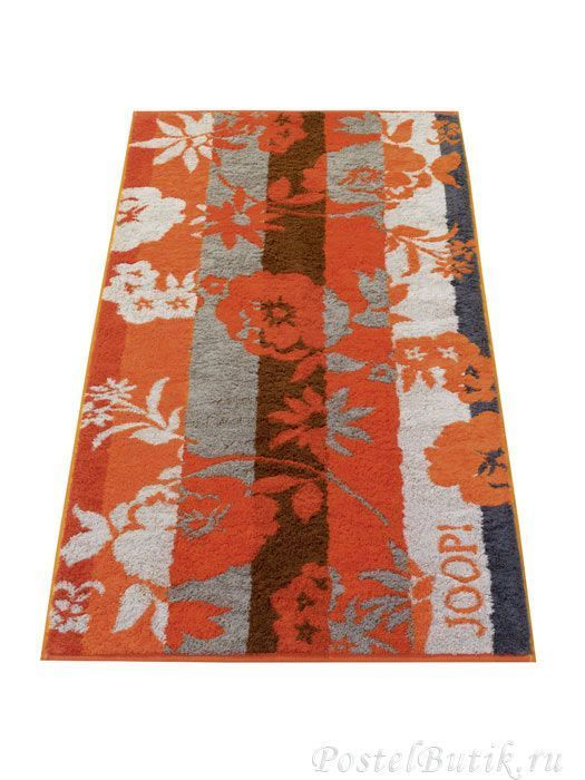 Полотенце 80х150 Cawo-JOOP! Shades Floral 1613 оранжевое