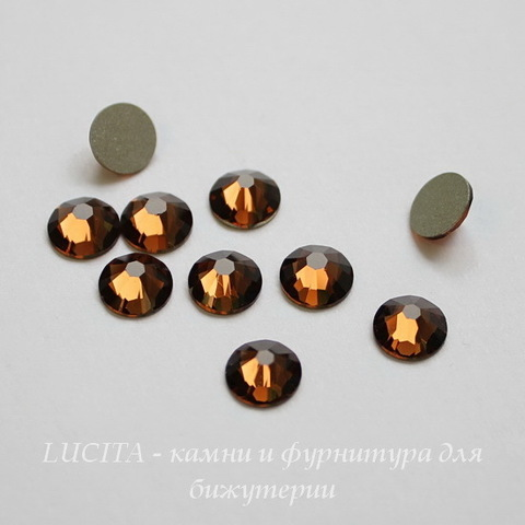 2028/2058 Стразы Сваровски холодной фиксации Smoked Topaz ss30 (6,32-6,5 мм)