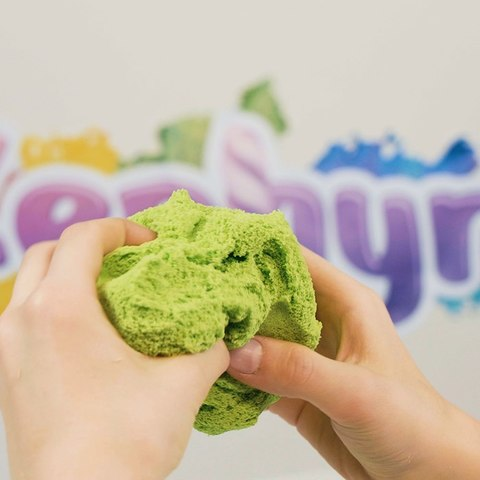 ZEPHYR (Зефир) - Тропический Лягух, кинетический пластилин зеленый 150 гр