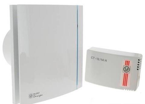 Вентилятор накладной S&P Silent 100 CZ Design 12V + CT 12/14 (с понижающим трансформатором)