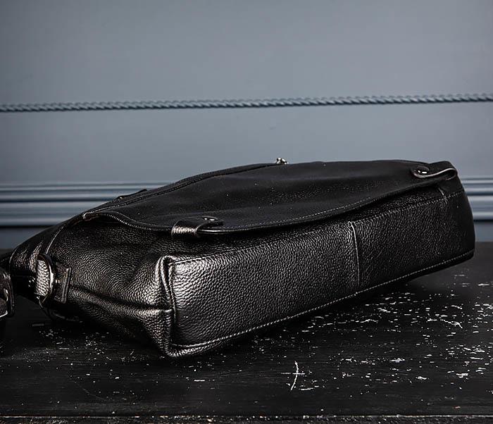 BAG513-1 Стильная мужская сумка из натуральной кожи фото 12