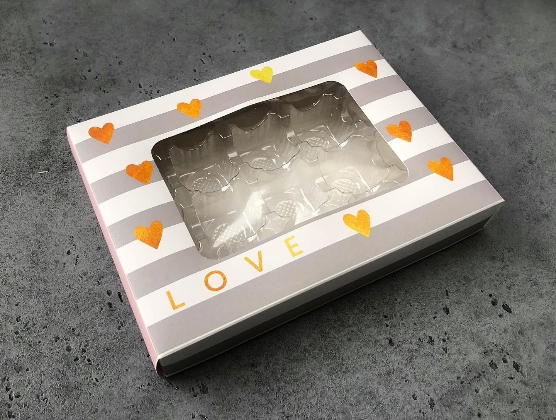 Коробка для конфет с ячейками 20х15х3,5 см, БЕЛАЯ