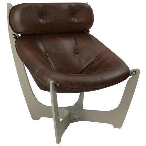 Кресло для отдыха Комфорт Модель 11 серый ясень/Antik Crocodile, 013.011