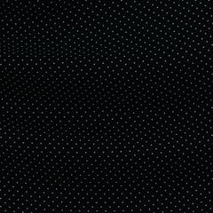 Шёлковый крепдешин чёрного цвета в молочную мушку
