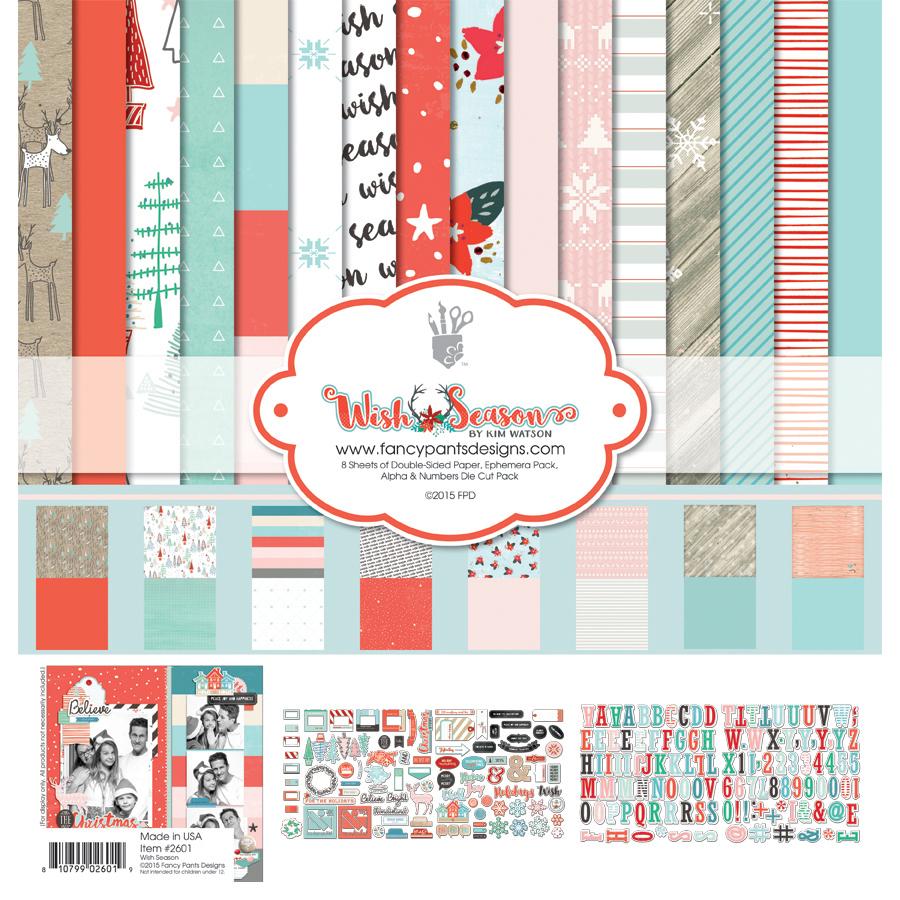 Kit набор бумаги Wish season