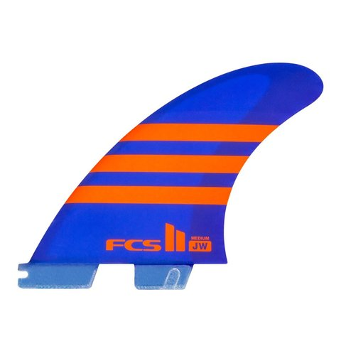 FCS II JW PC Tri Retail Fins Blue/Orange Medium