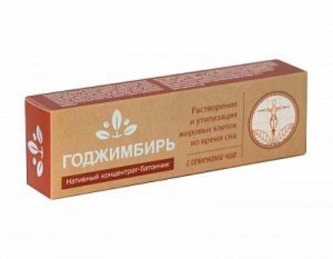Нативный концентрат-батончик ГоджИмбирь с семенами чиа, Сашера-Мед, 45 г