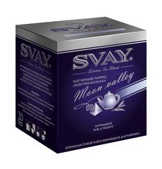 Чай Svay Moon Valley (Лунная долина) черный крупнолистовой с чабрецом, мятой и лепестками василька в пирамидках для чайников (20 пирамидок по 4 гр.)