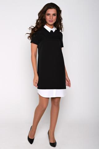 Модное платье, оригинальный фасон подчеркнет Вашу индивидуальность. По спинке замок. (Длина: 44=94см; 46=95см; 48=96см; 50=97см; 52=98см;)